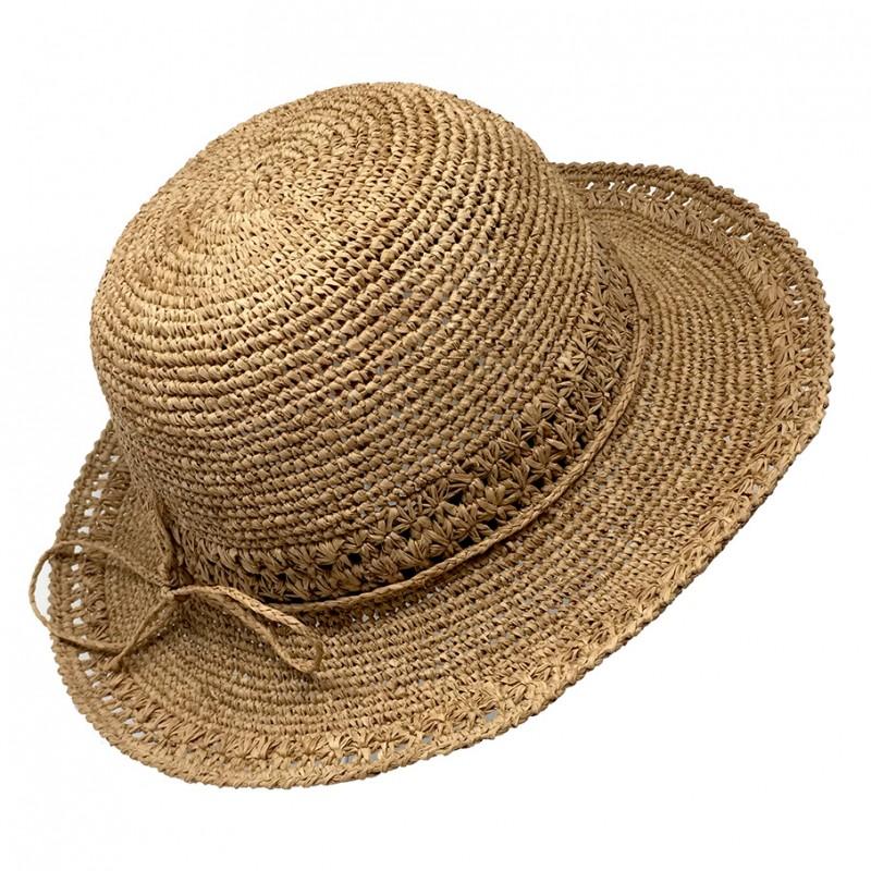Chapeau raphia capeline pliable été mode