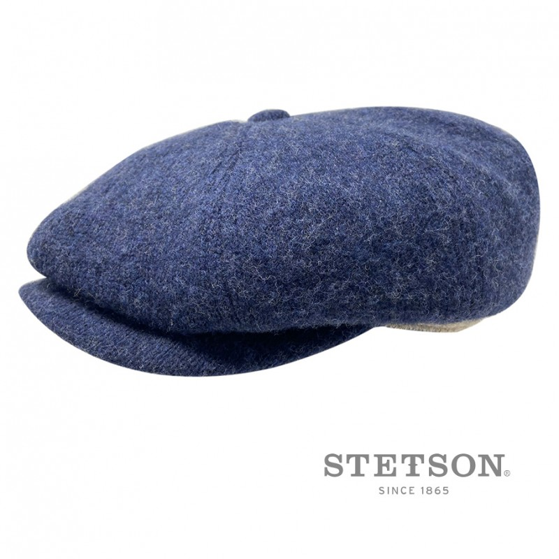 Made in The EU Plate Laine avec Visiere Stetson Casquette Hatteras Lambswool II Homme Doublure Automne-Hiver