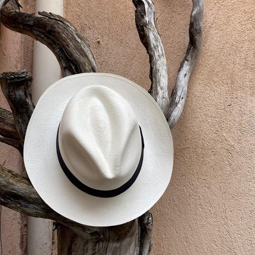 Chapeau Panama Fédora-Jeff-Chapeau victor blanc extérieur.