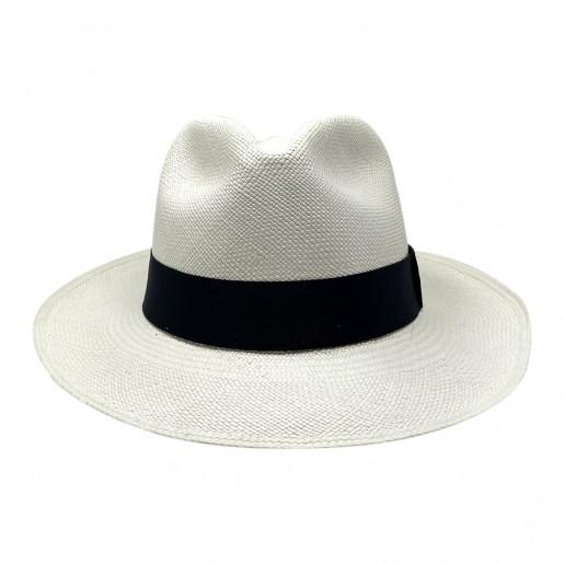 Chapeau Panama Fédora-Jeff-Chapeau victor blanc face