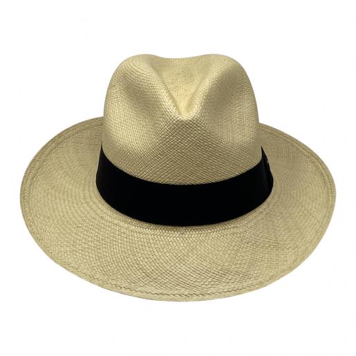Chapeau Panama Fédora-Jeff-Chapeau victor naturel face