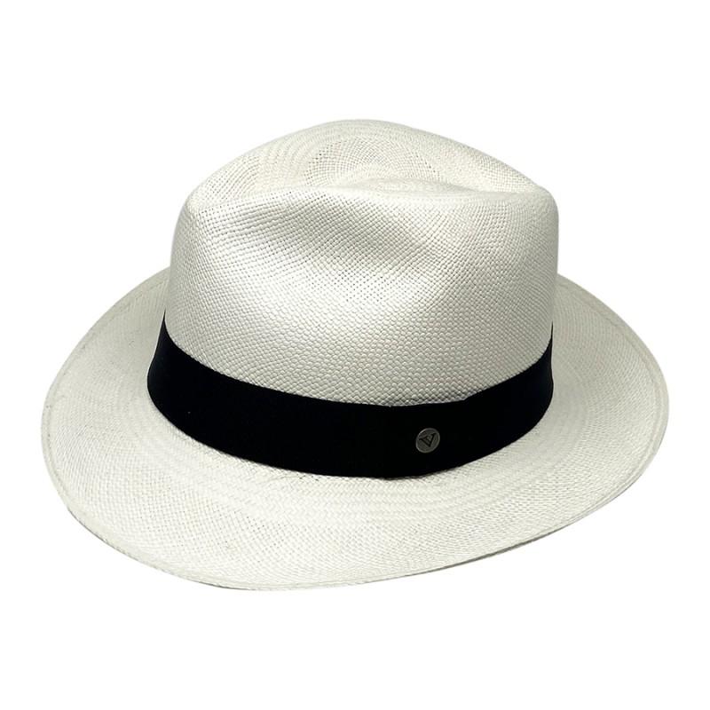 Chapeau Panama Fédora-Jeff-Chapeau victor blanc  pro