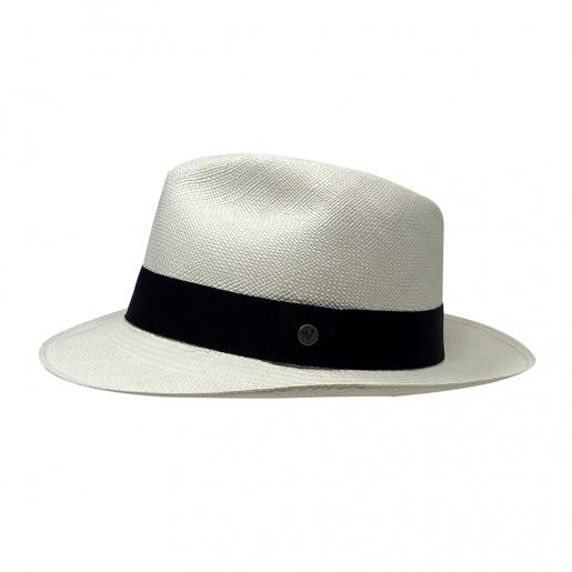 Chapeau Panama Fédora-Jeff-Chapeau victor blanc pro2
