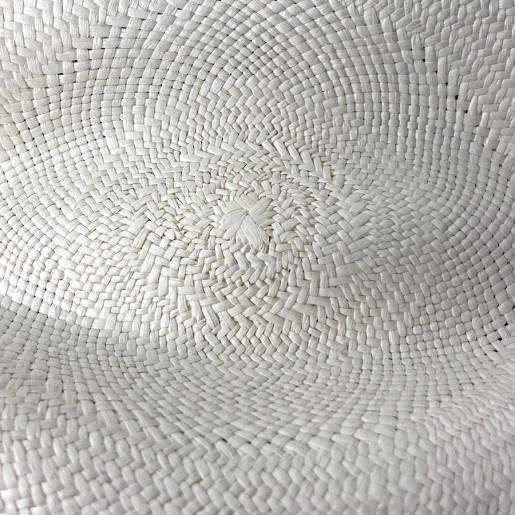 Chapeau Panama Fédora-Jeff-Chapeau victor blanc détaille rosace