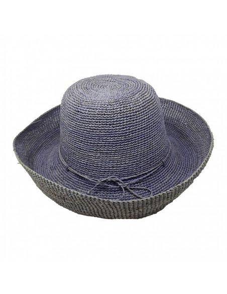 E107 Chapeau Femme raphia crochez Rabarany jans pro
