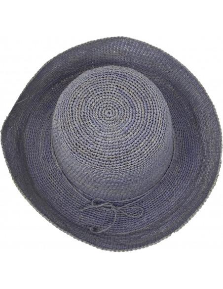 E107 Chapeau Femme raphia crochez Rabarany jans haut