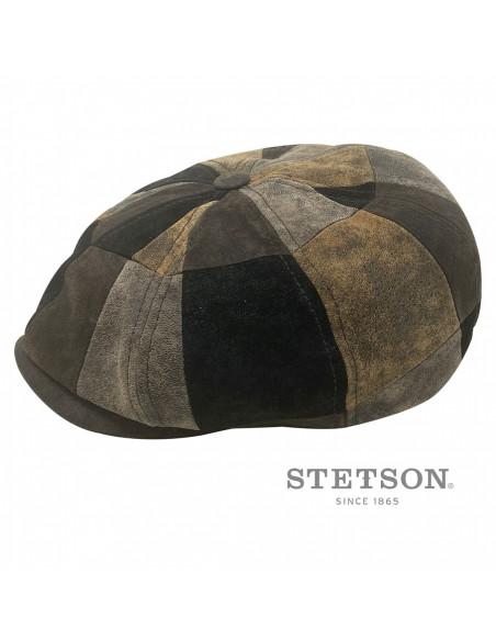 casquette S700 cuir patchwork Stetson profile 2