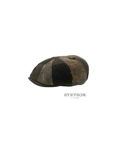 casquette S700 cuir patchwork Stetson profile 1