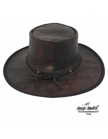 Chapeau cuir Pliable Stony Roo - Aussie Apparel dos