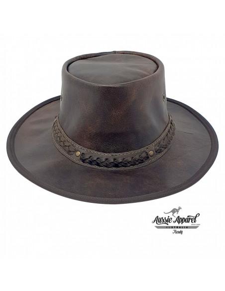 Chapeau cuir Pliable Stony Roo - Aussie Apparel face