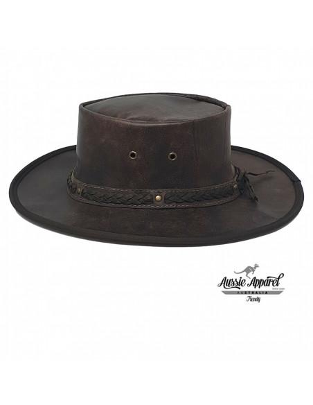 Chapeau cuir Pliable Stony Roo - Aussie Apparel profile