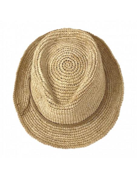 Chapeau Trilby Raphia Crochet Relax - Y400 haut