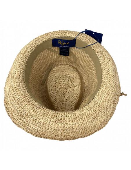 Chapeau Trilby Raphia Crochet Relax - Y400 intérieur.