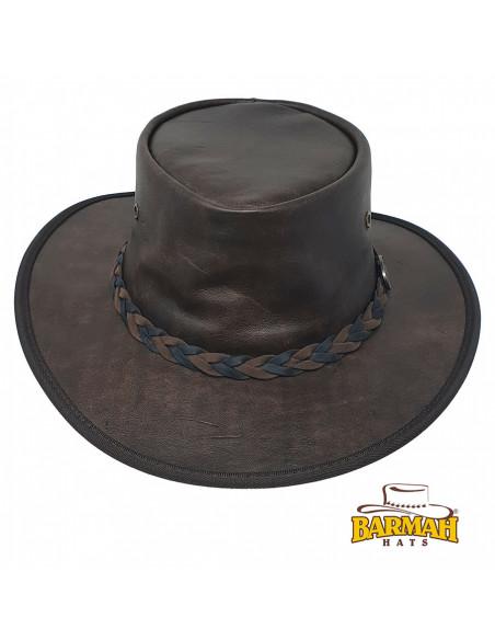 Chapeau Cuir Sundower - Barmah face