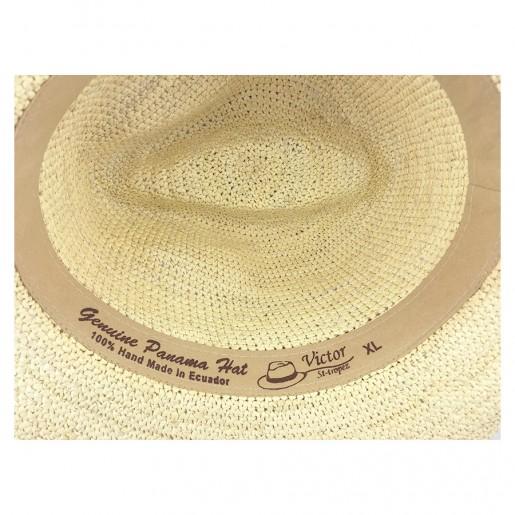 Chapeau Panama Homme et Femme Melvin au crochet intérieur.