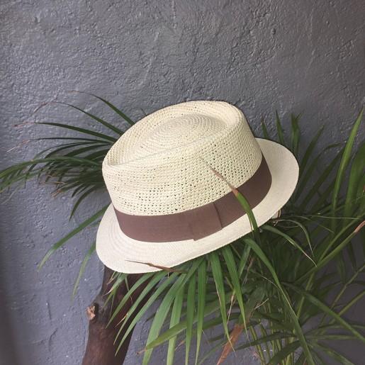 Chapeau Panama Trilby crochet Auréga. situation