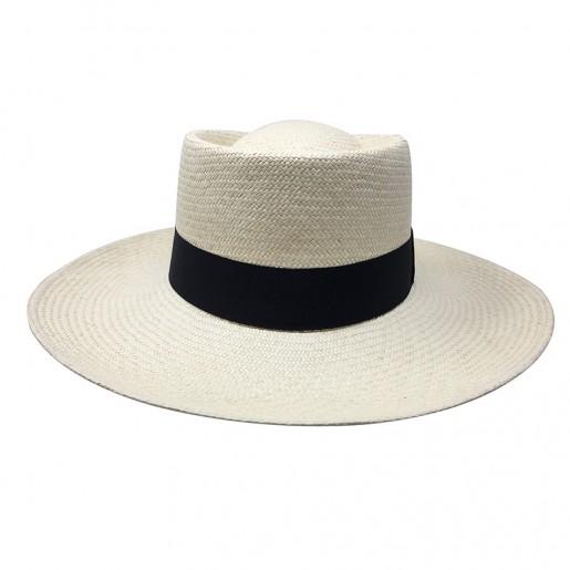 Chapeau Panama Femme Annie naturel face