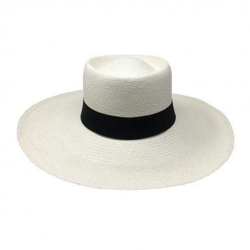 Chapeau Panama Femme Annie Blanc face
