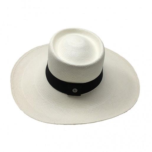Chapeau Panama Femme Annie Blanc haut