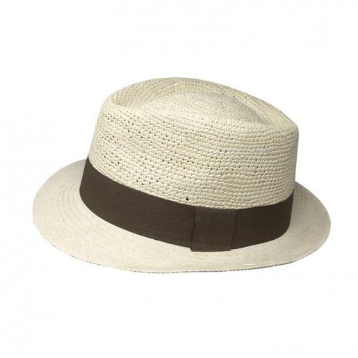 Chapeau Panama Trilby crochet Auréga. profile 2