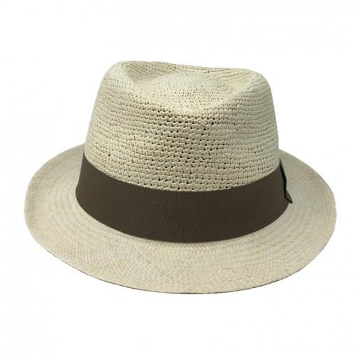 Chapeau Panama Trilby crochet Auréga. Face