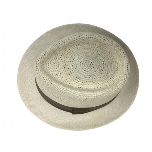 Chapeau Panama Trilby crochet Auréga. haut
