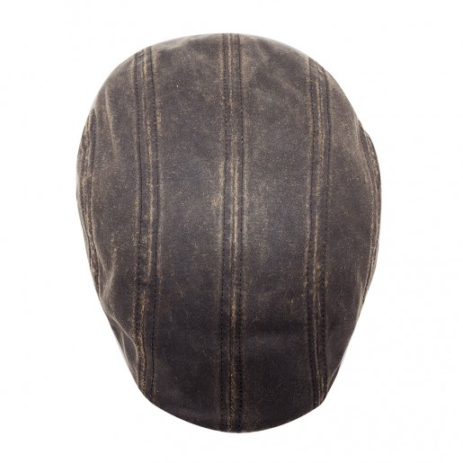 casquette Ivy cap Stetson effet cuir  6121101 haut