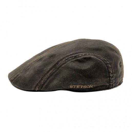 casquette Ivy cap Stetson effet cuir profile 2