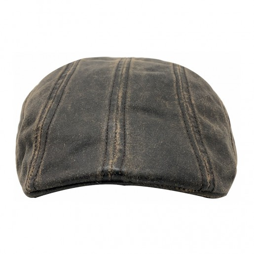 casquette Ivy cap Stetson effet cuir  face  6121101