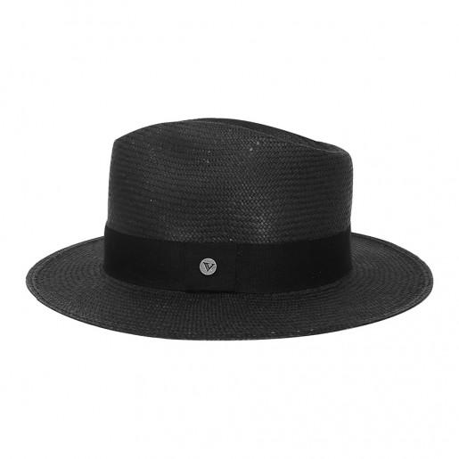 Chapeau Panama Traveller Melvin Noir profil