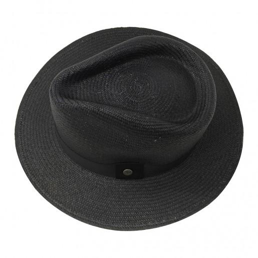 Chapeau Panama Traveller Melvin Noir haut