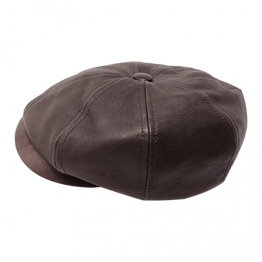 casquette gavroche stetson cuir