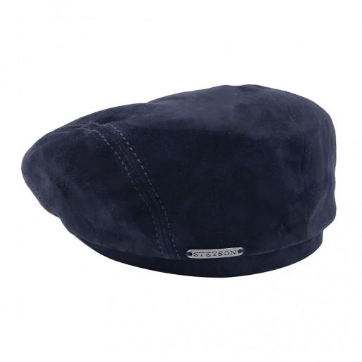 casquette bleu marine cuir