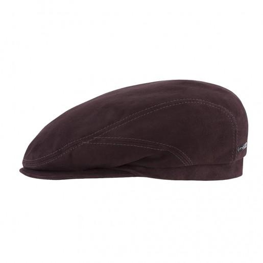 casquette cuir stetson marron