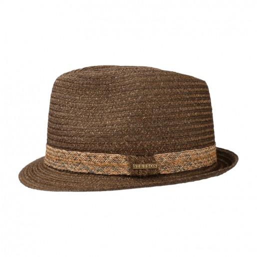 Chapeau Stetson trilby abaca couleur marron