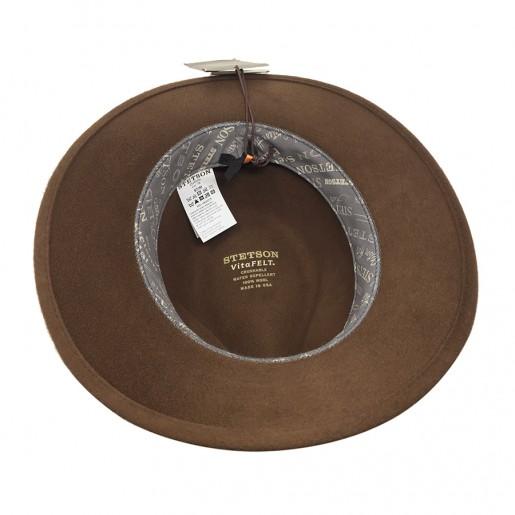 chapeau imperméable et rouable stetson feutre vita felt