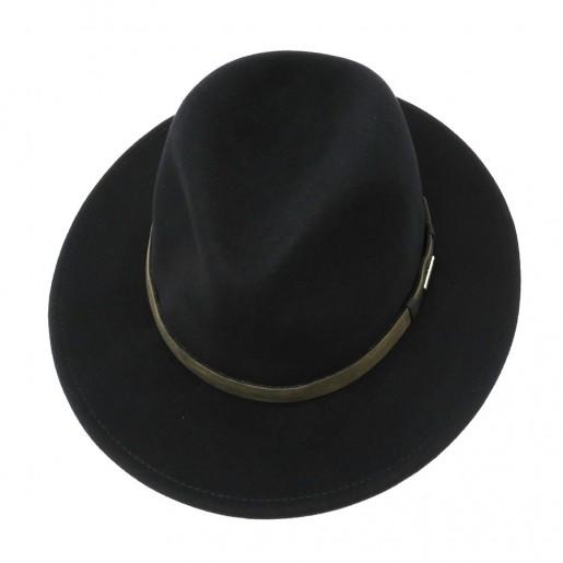 chapeau stetson pluie noir traveller