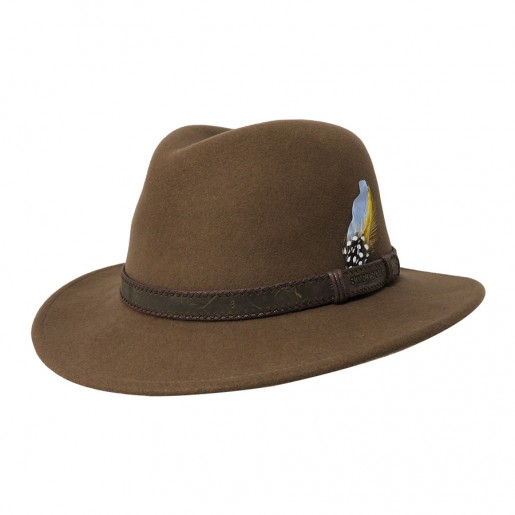 STETSON HIVER BEIGE CRUSHABLE ROULABLE