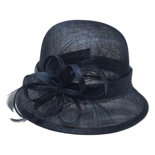 Chapeau de cérémonie bleu marine