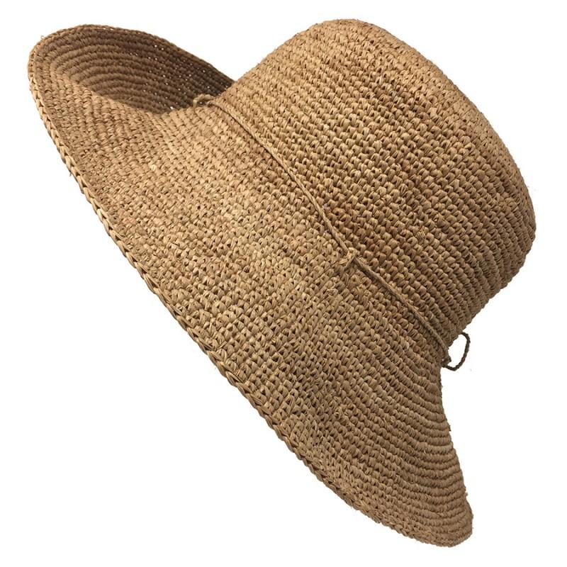 Chapeau raphia au crochet