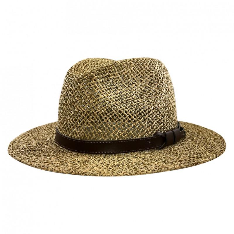 Chapeau Traveller seagrass paille naturel été
