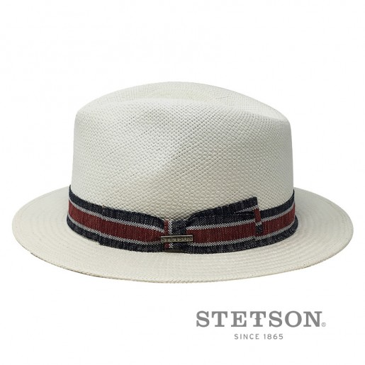 Chapeau panama Stetson traveller blanc